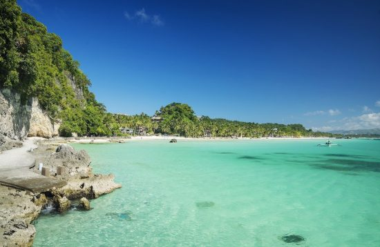 Pristine waters in Boracay's Diniwid beach