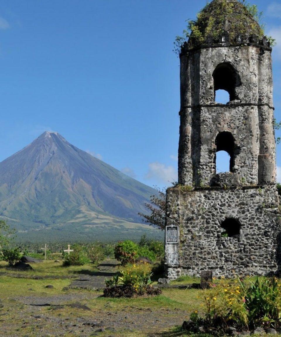 Cagsawa, Ruins and Mayon Volcano, Philippines