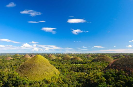 Panoramic view of Bohol's Chocolate Hills