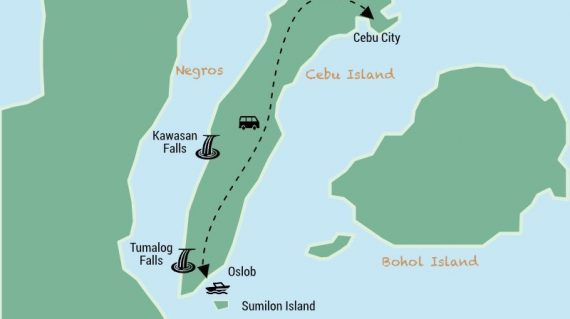 Oslob whale sharks watching and Kawasan Falls day trip from Cebu