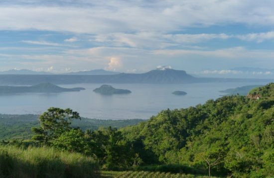 Scenic view of Taal Lake