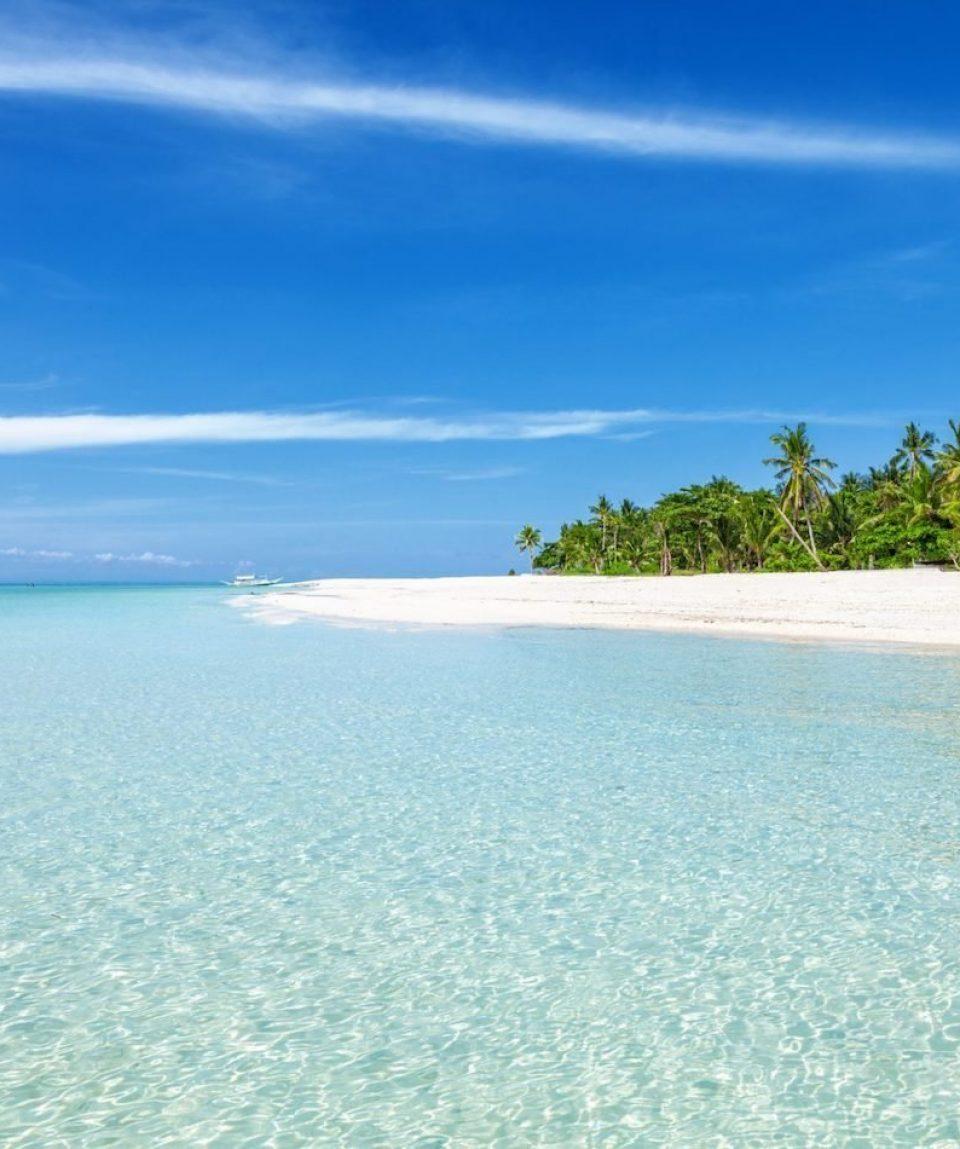 White beach in Cebu, Philippines