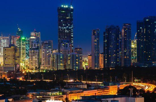 Skyline of manila city