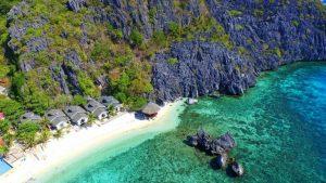 Aerial view of Matinloc Beach Resort