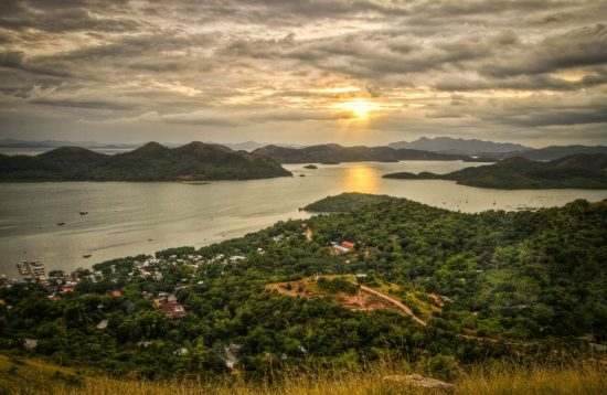 Watching sunset from Coron's Mount Tapyas