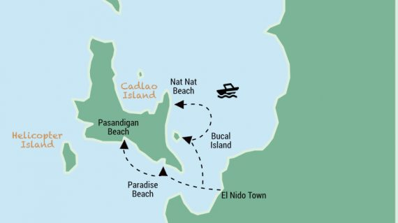El Nido Tour D Map