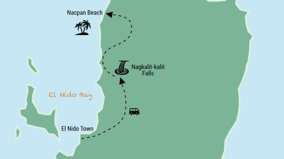 Nacpan Beach Tour Map