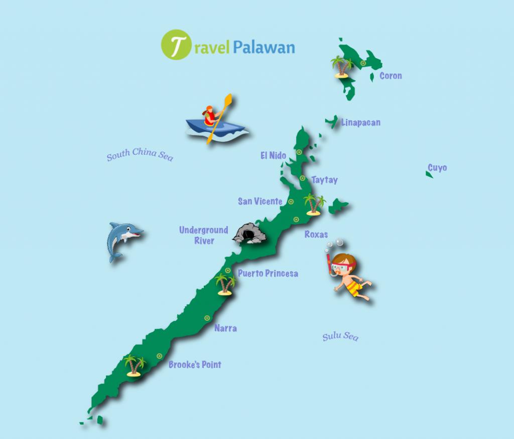 A map of Palawan