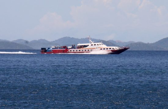 Phimal's fast craft sailing from El Nido to Coron