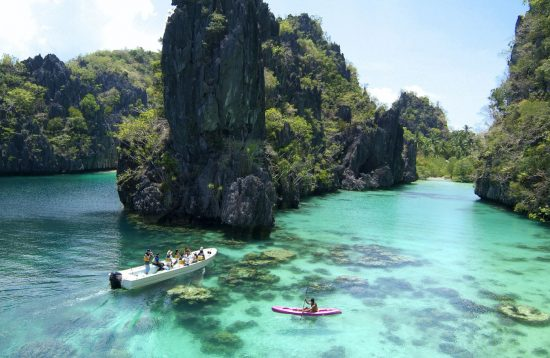 Tourists Travelling in El Nido