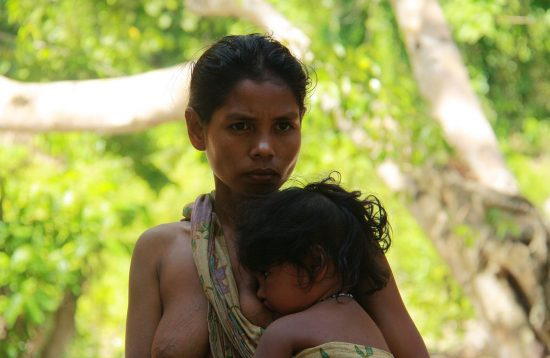 Batak woman with baby in Palawan