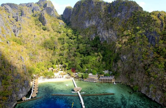 Aerial view of Miniloc Island El Nido Resorts