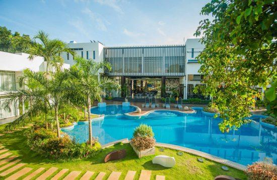 Swimming pool area at Aziza Paradise Hotel
