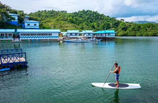 Paddleboard activity at Coron Underwater Garden Resort