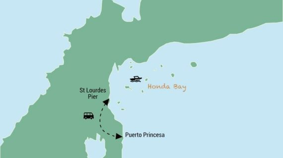 Honda Bay Map