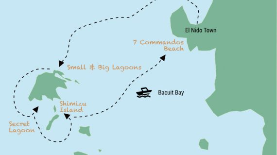 Map El Nido Tour A