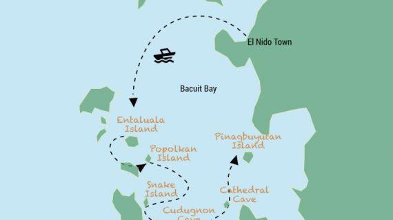 Map El Nido Tour B