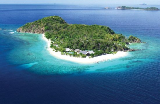 Aerial view of Club Paradise Resort Coron