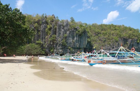 A scenic view of Sabang Beach