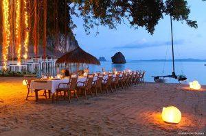 Gala dinner on a island in El Nido
