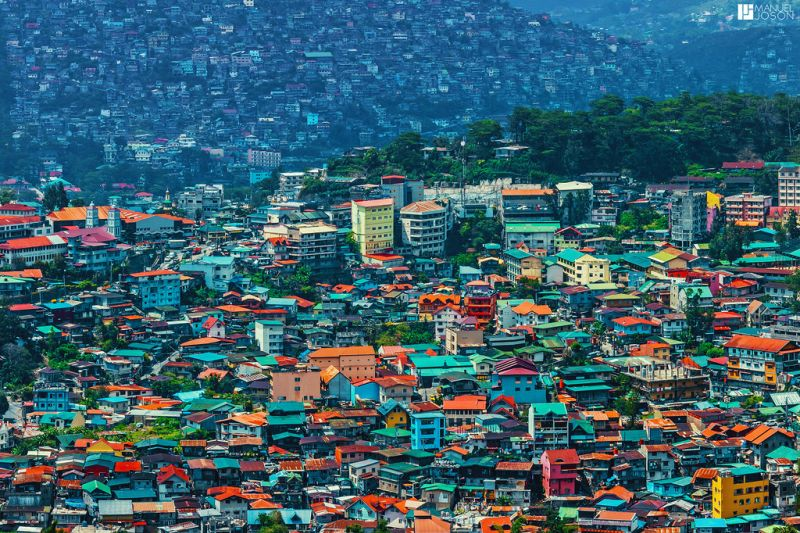Aerial view of Baguio City
