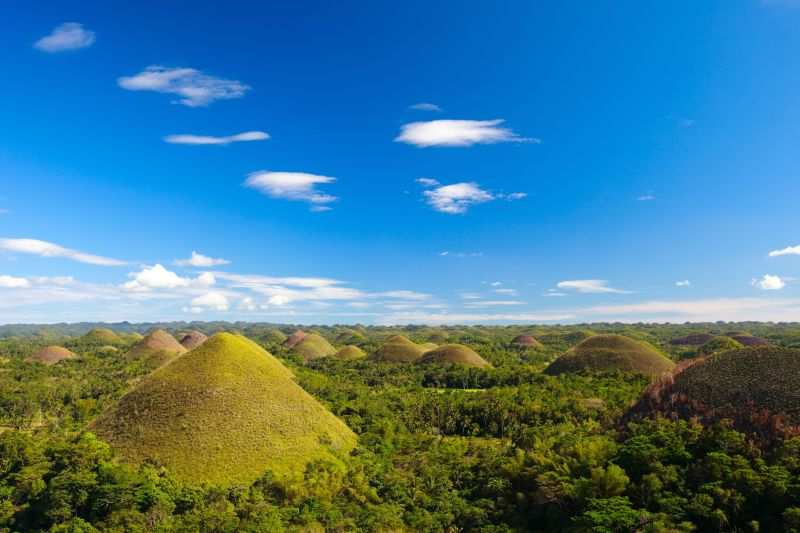 Bohol Chocolate Hills natural landmark in Philippines