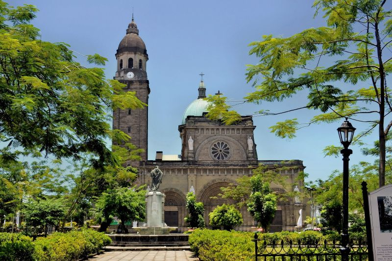 exterior of Manila's Cathedral