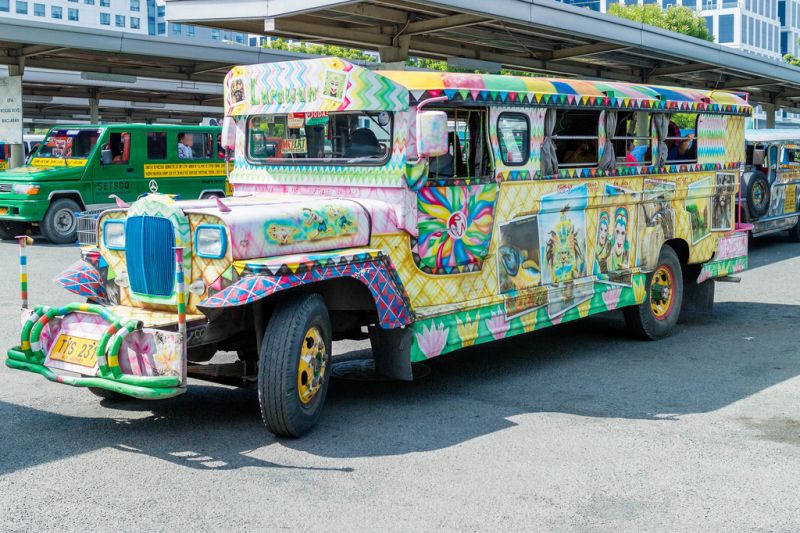 A colorful jeepney in Manila
