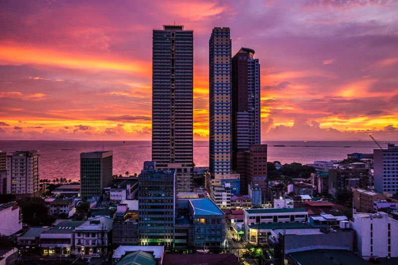 Scenic Sunset in Manila