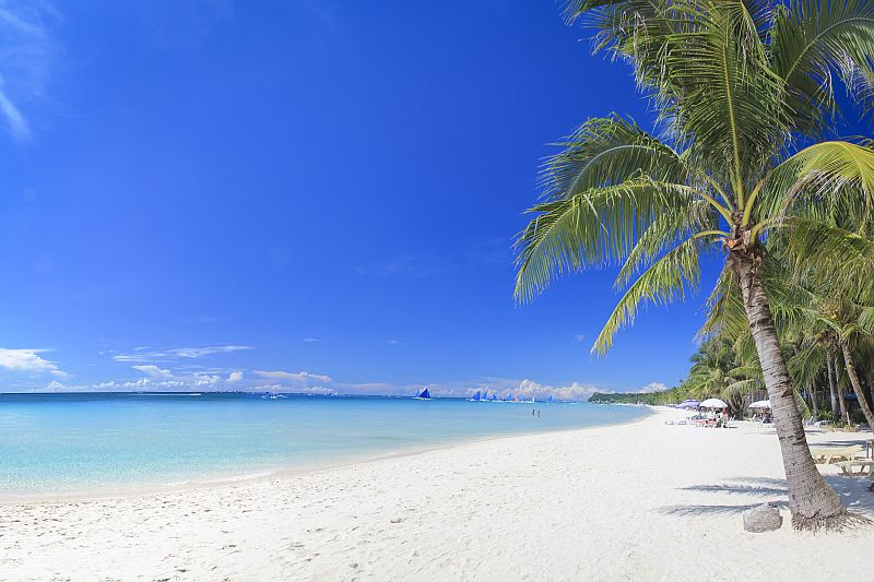 Morning scene at Boracay's White Beach