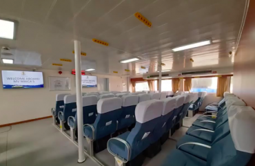 Indoor air-conditioned seating in Jomalia's Fast ferry Coron-El Nido