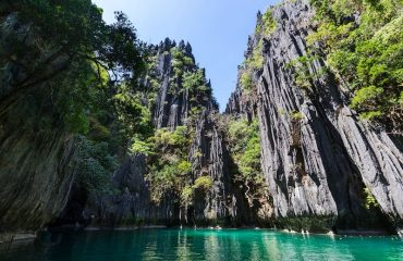 Limestone rock formations in El Nido Palawan