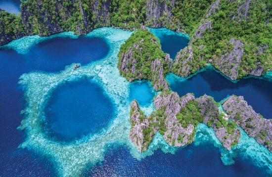 Aerial view of Coron's Lagoons