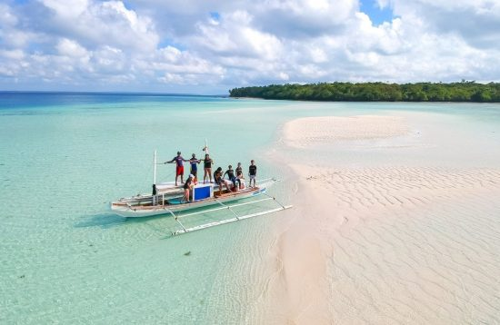 A group of tourists exploring Balabac pristine islands