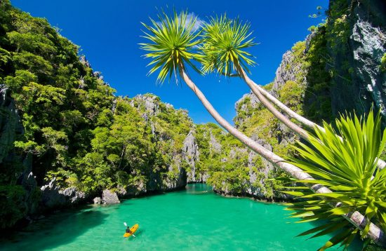 Aerial view of El Nido's Small Lagoon