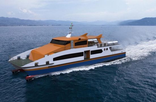 Jomalia's fast ferry sailing from El Nido to Coron